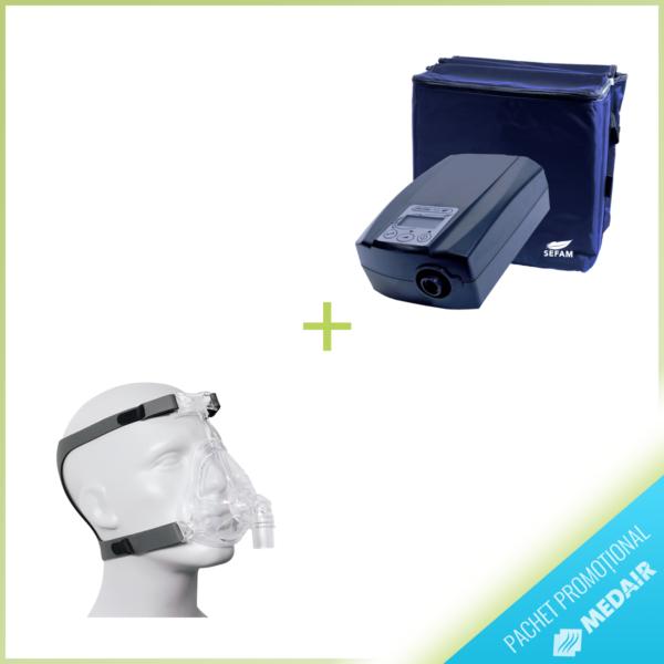 PROMO Dispozitiv CPAP Sefam EcoStar Auto + Sefam Breeze Facial+ S/M/L