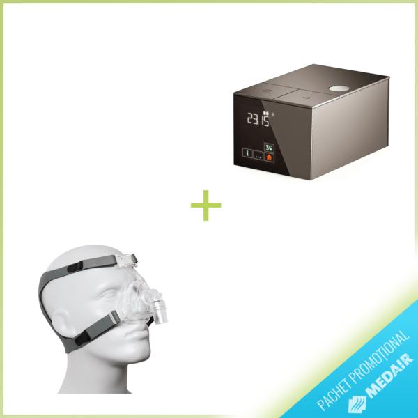 PROMO Dispozitiv CPAP Sefam S. Box by Starck + Masca Nazala Sefam Breeze Zen S/M/L